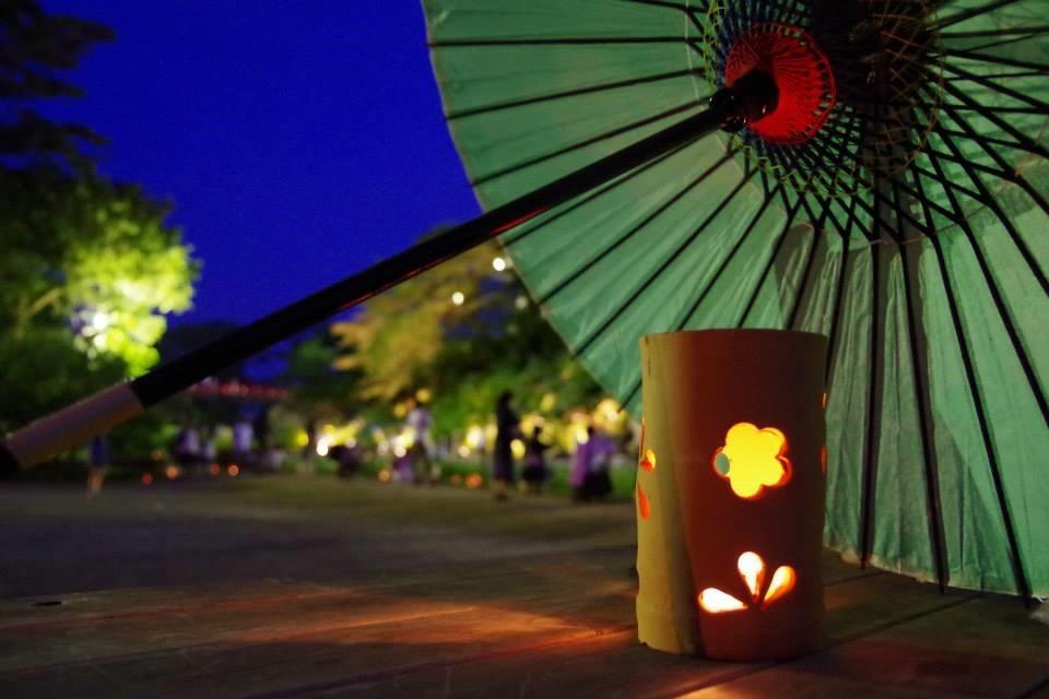 AKARI NIGHTと呼ばれる灯篭点灯イベント