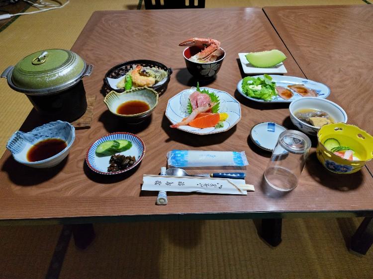 夕食の一例朝、夕ともお部屋出しでゆっくり頂けます。