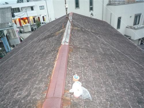 スタッフ一同、熱い心で何でもご希望に添えたいと考えております!    【写真】屋根の補修と塗り替え ~施工前~