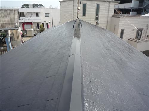 【写真】屋根の補修との塗り替え ~施工後~ これで雨漏れなどの心配もないですね☆