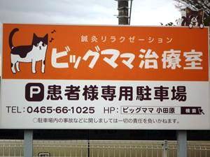 猫の看板が目印です。
