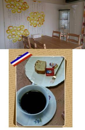 グルーデコやフラワーアレンジメントがディスプレイされた明るい空間でレッスンを受けていただけます。 レッスン終了後は、お茶とお菓子をご用意させていただいております。