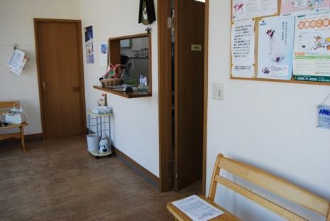 広いスペースの受付・待合スペースは、ペットたちが居やすい環境を考えました。